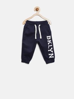 Yk Solid Boy's Dark Blue Track Pants