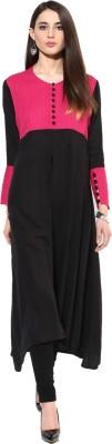 Jaipur Kurti Solid, Striped Women's A-line Kurta
