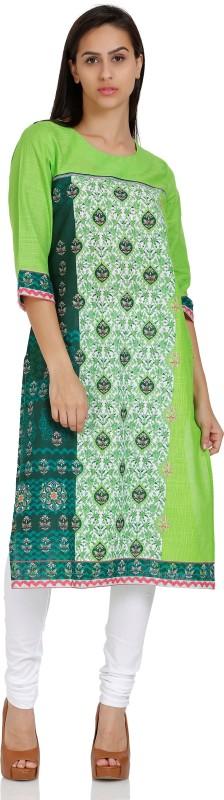 Aurelia Printed Women's Straight Kurta(Green)
