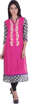 Geroo Embroidered Women's Straight Kurta