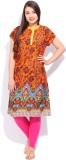 ANAHI Printed Women's A-line Kurta (Oran...
