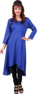 In-Trend Solid Women's A-line Kurta