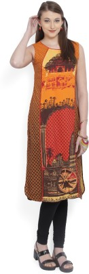Aurelia Printed Women's Straight Kurta(Multicolor) at flipkart