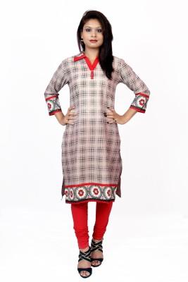 Piya Bawari Checkered Women's Straight Kurta