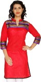 Shes Solid, Printed Women's A-line Kurta...