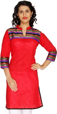 Shes Solid, Printed Women's A-line Kurta