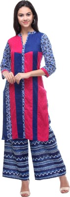 Blueberii Printed Women's Straight Kurta