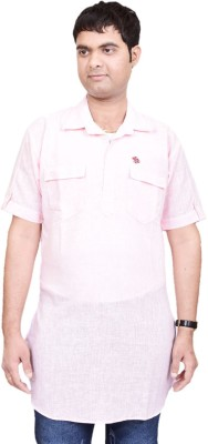 British Terminal Solid Men's Straight Kurta