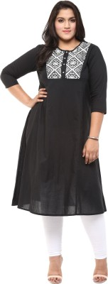 Love More Embroidered Women's A-line Kurta