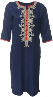 my swag Embroidered Women's Straight Kurta