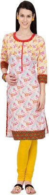 Souchii Printed Women's Straight Kurta
