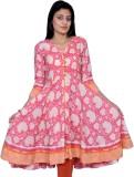 Chidiyadesigns Printed Women's A-line Ku...