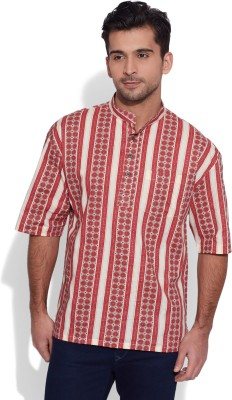 Very Me Striped Men's Straight Kurta