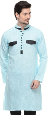 Lavennder Solid Men,s Straight Kurta