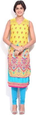 Rangriti Printed Women's Straight Kurta at flipkart