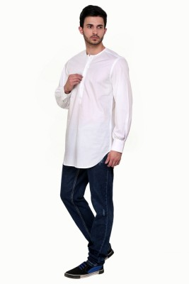 Dazzio Solid Men's Straight Kurta