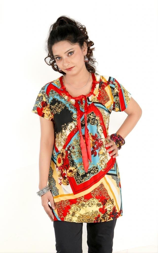 Sruti Printed Womens Straight Kurta(Multicolor)