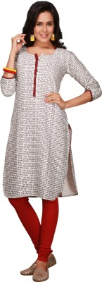 Maybell Printed Women's Straight Kurta