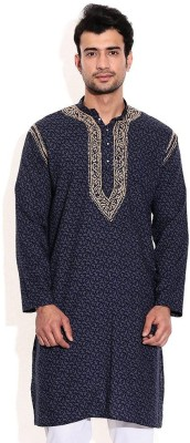 Sai Chikan Embroidered Men,s Straight Kurta