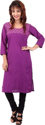 In-Trend Solid Women's Straight Kurta