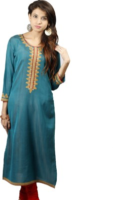 Mother Home Embroidered Women's Straight Kurta