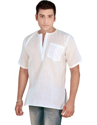 Govind Chikan Embroidered Men's Straight Kurta