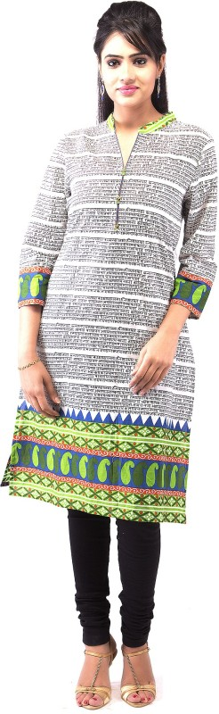 Goodwill Impex Printed Women's Straight Kurta(Multicolor)