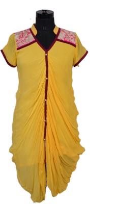 Radhika Goyal Solid, Embroidered Women's Straight Kurta