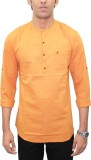 Southbay Solid Men's Straight Kurta (Ora...