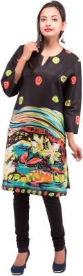 Maya Antiques Floral Print Women's Straight Kurta