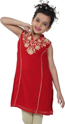 Catmini Casual Embroidered Girl's Kurti