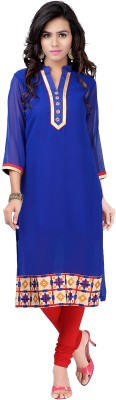 Indianfashionlady Casual, Festive, Party Self Design, Embroidered Women's Kurti