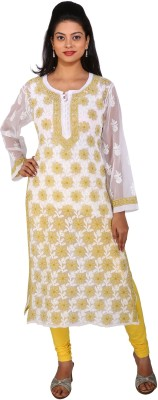 The Material Woman Casual, Formal, Festive Embroidered Women's Kurti