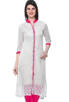 SHRI SAREES Casual, Festive, Formal, Party, Wedding Self Design Women's Kurti