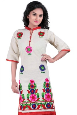 Kuvarba Fashion Casual Embroidered Women's Kurti
