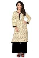 Shonaya Women's Clothing - Shonaya Casual Printed Women's Kurti(Beige)