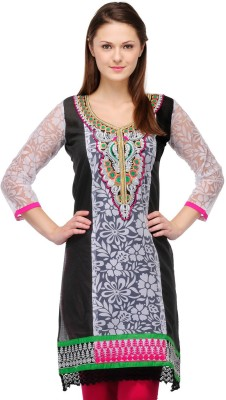 Cenizas Casual Self Design Women's Kurti(Multicolor) at flipkart