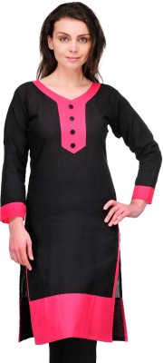 Cenizas Casual Solid Women's Kurti(Black) at flipkart