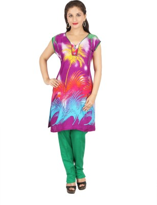 mira Digital Print Girls Kurti(Red)