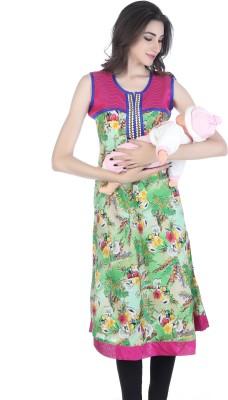 DEMODA Casual Printed Womens Maternity Wear Kurti(Multicolor)