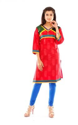 Veera Designers Formal, Casual Self Design Women's Kurti