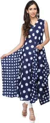 AP Lifestyle Casual Self Design Women's Kurti(Blue) at flipkart