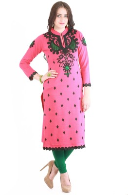 Rebecca Festive & Party Embroidered Women's Kurti(Pink)