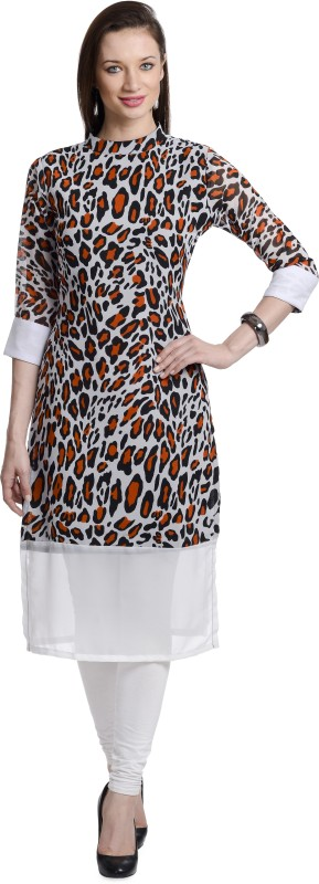 Chandigarh Fashion Mall Casual Animal Print Women's Kurti(Multicolor)