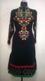 JIGYAASHA Embroidered Women's Kurti (Bla...