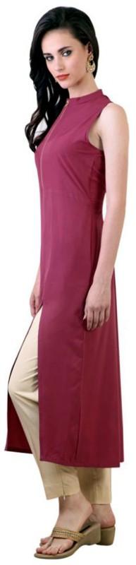 Chandigarh Fashion Mall Casual Solid Women's Kurti(Pink)