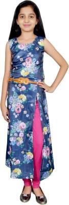 Neeya Fashions Floral Print Girls Kurti(Multicolor)