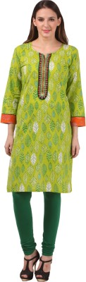 Naimah Casual, Festive Floral Print, Printed, Embroidered, Embellished Women's Kurti