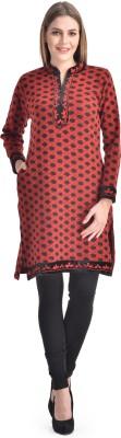 Sanvi Traders Casual Solid Womens Maternity Wear Kurti(Red)