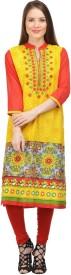 Zohya Casual Embroidered Women's Kurti(Multicolor)
